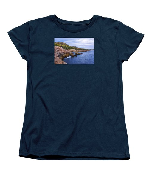 Women's T-Shirt (Standard Cut) featuring the photograph Acadia's Coast by Chad Dutson