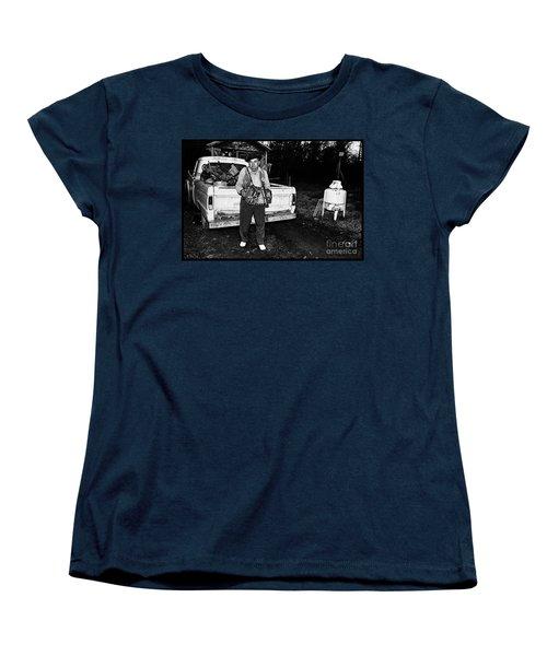Accordion Scrapper Man  Women's T-Shirt (Standard Cut) by Peter Gumaer Ogden