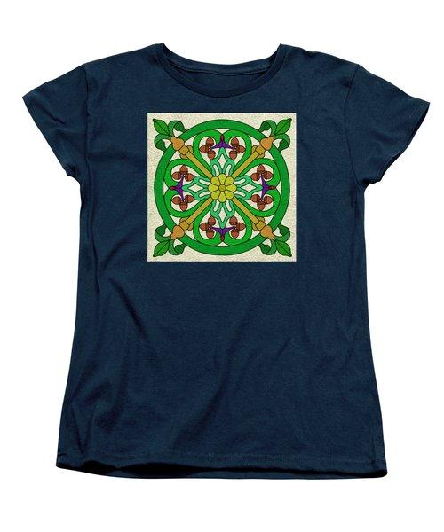 Acorn On Cream/purple Women's T-Shirt (Standard Cut) by Curtis Koontz