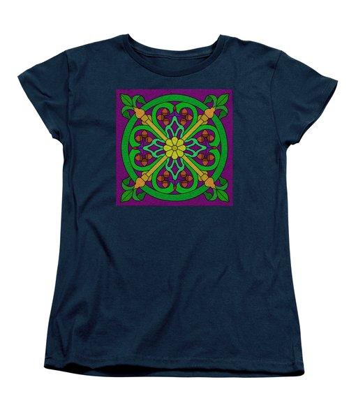 Acorn On Dark Purple Women's T-Shirt (Standard Cut) by Curtis Koontz