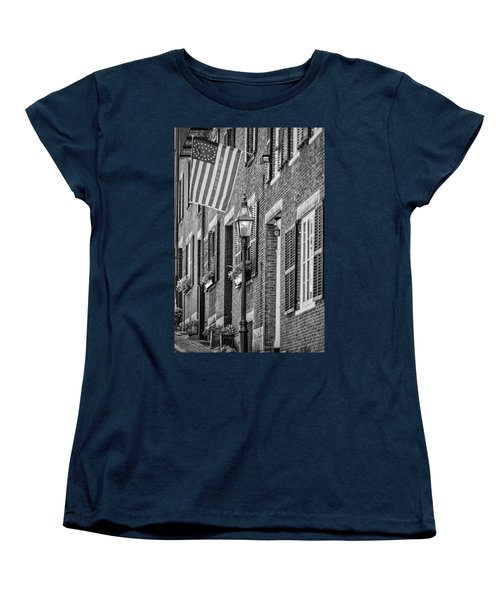 Acorn Street Details Bw Women's T-Shirt (Standard Cut) by Susan Candelario