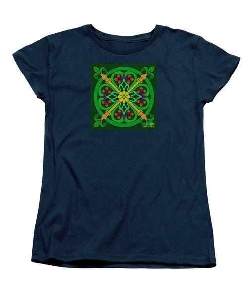 Acorns On Forest Green Women's T-Shirt (Standard Cut) by Curtis Koontz