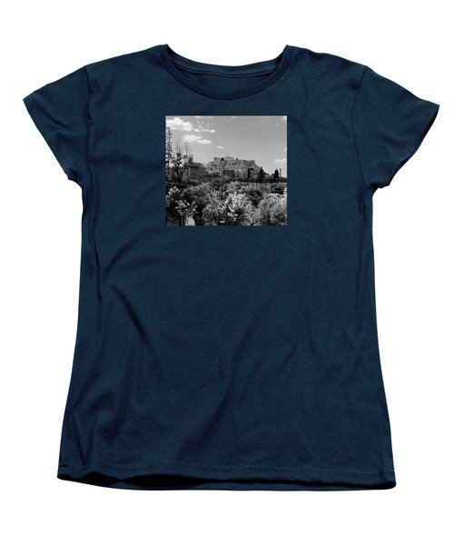Women's T-Shirt (Standard Cut) featuring the photograph Acropolis Black And White by Robert Moss