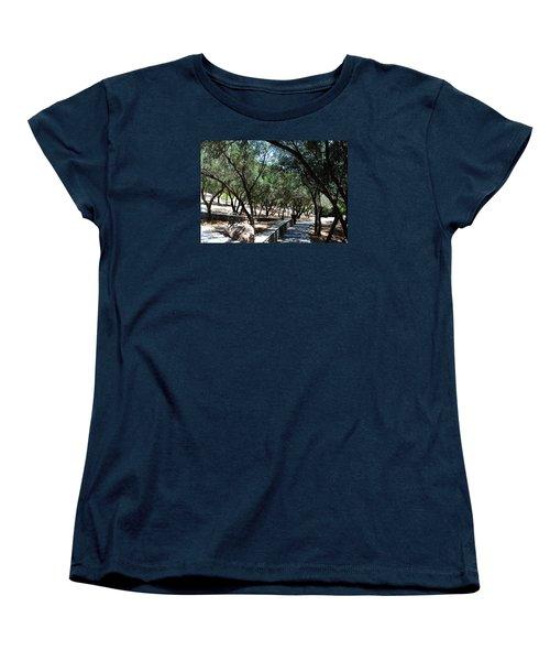Acropolis Trail Women's T-Shirt (Standard Cut) by Robert Moss