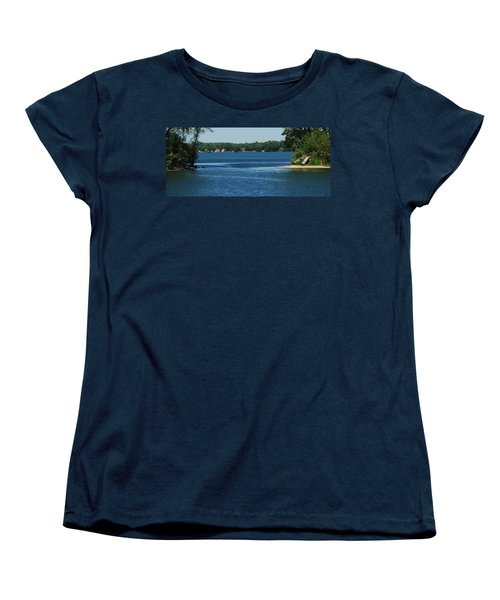 Women's T-Shirt (Standard Cut) featuring the photograph Across The Bay by Ramona Whiteaker