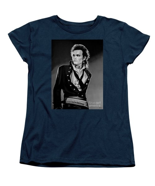 Adam Ant Painting Women's T-Shirt (Standard Cut) by Paul Meijering