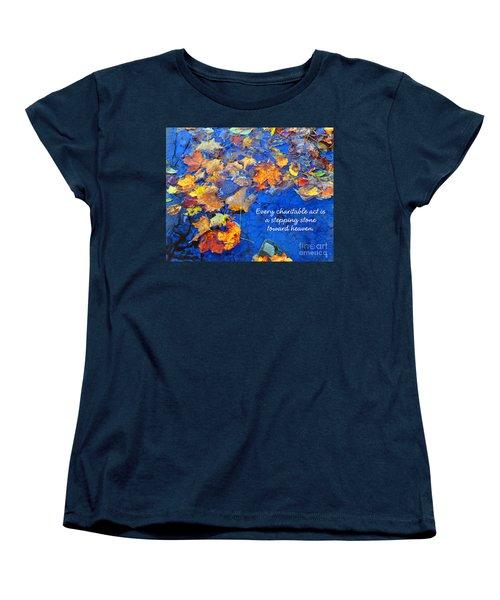 Women's T-Shirt (Standard Cut) featuring the photograph Adironack Laughing Water Charity by Diane E Berry