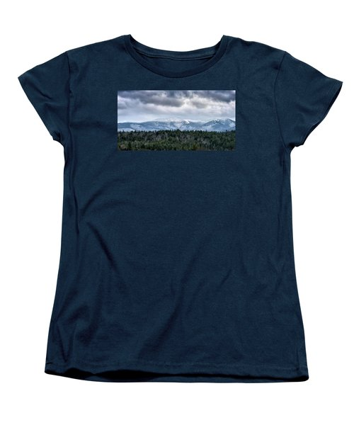 Adirondack High Peaks During Winter - New York Women's T-Shirt (Standard Cut) by Brendan Reals