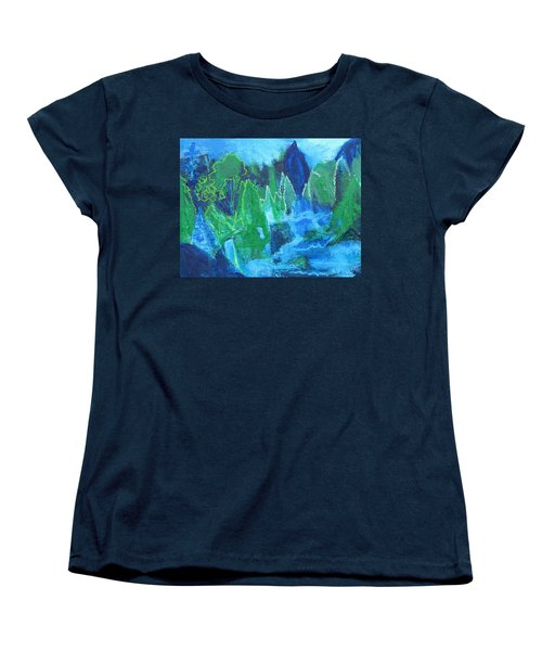 Women's T-Shirt (Standard Cut) featuring the painting Adirondack Spring by Betty Pieper