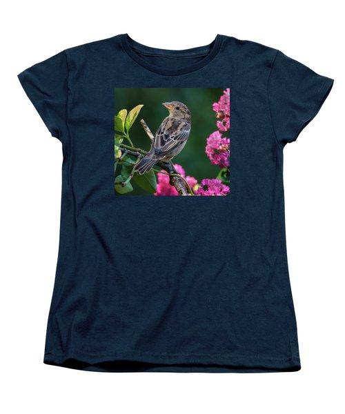 Adorable House Finch Women's T-Shirt (Standard Cut) by Jim Moore