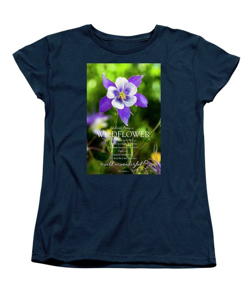 Advice From A Wildflower Columbine Women's T-Shirt (Standard Cut) by Teri Virbickis