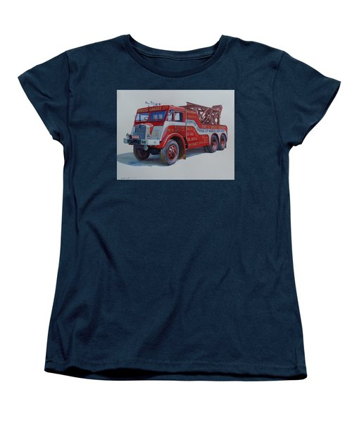 Women's T-Shirt (Standard Cut) featuring the painting Aec Militant Dennis's. by Mike Jeffries
