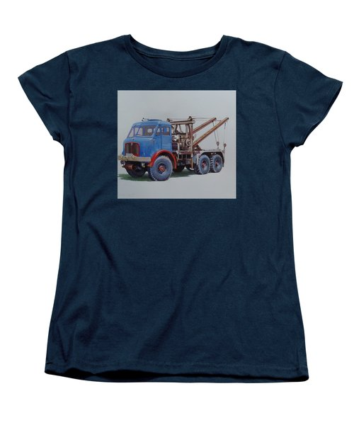 Women's T-Shirt (Standard Cut) featuring the painting Aec Militant Wrecker. by Mike Jeffries