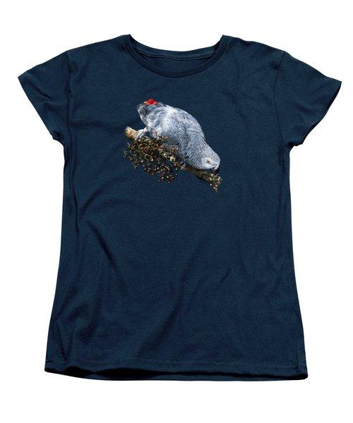 African Grey Parrot A Women's T-Shirt (Standard Cut) by Owen Bell