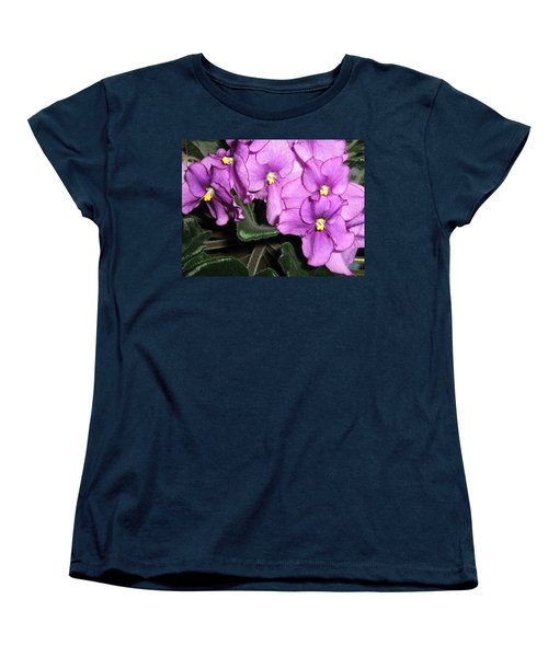 Women's T-Shirt (Standard Cut) featuring the photograph African Violets by Barbara Yearty