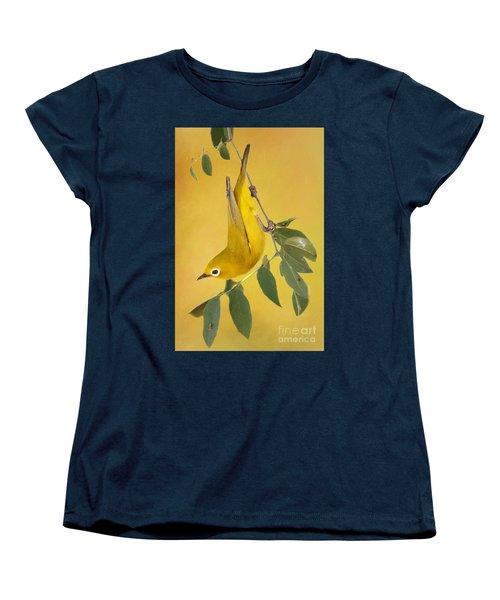 Women's T-Shirt (Standard Cut) featuring the photograph African Yellow White-eye by Myrna Bradshaw