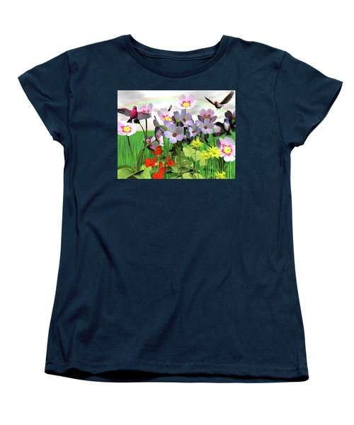 After The Rain Comes The Rainbow Women's T-Shirt (Standard Cut) by Michele Wilson