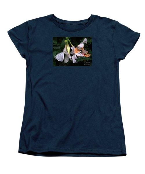 After The Rain - Flower Photography Women's T-Shirt (Standard Cut) by Miriam Danar
