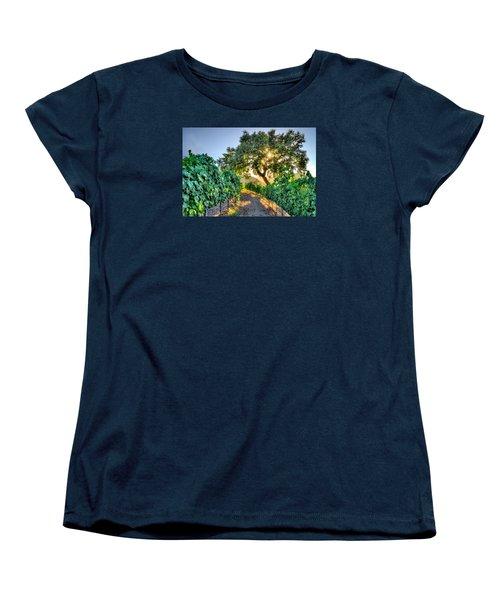 Afternoon In The Vineyard Women's T-Shirt (Standard Cut) by Derek Dean
