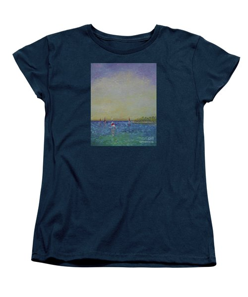 Afternoon Sailing Women's T-Shirt (Standard Cut) by Gail Kent