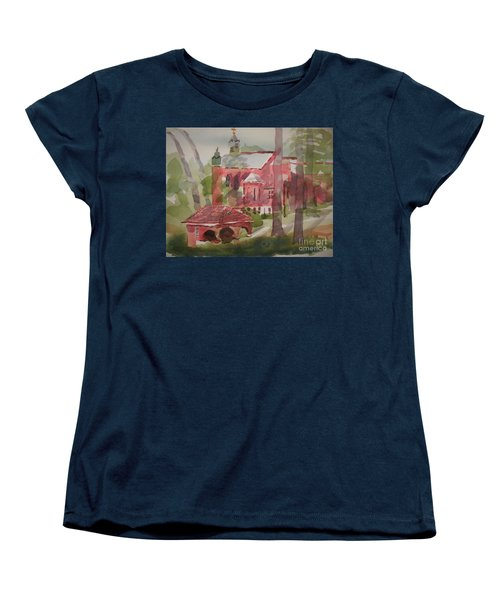 Women's T-Shirt (Standard Cut) featuring the painting Afternoon Shadows W403 by Kip DeVore