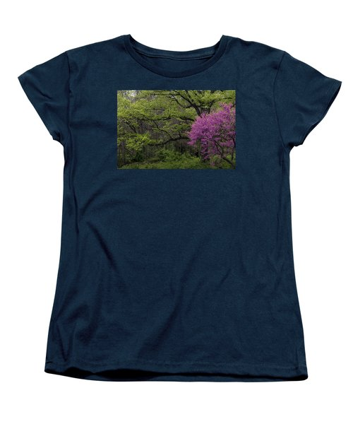 Women's T-Shirt (Standard Cut) featuring the photograph Afton Virginia Spring Red Bud by Kevin Blackburn