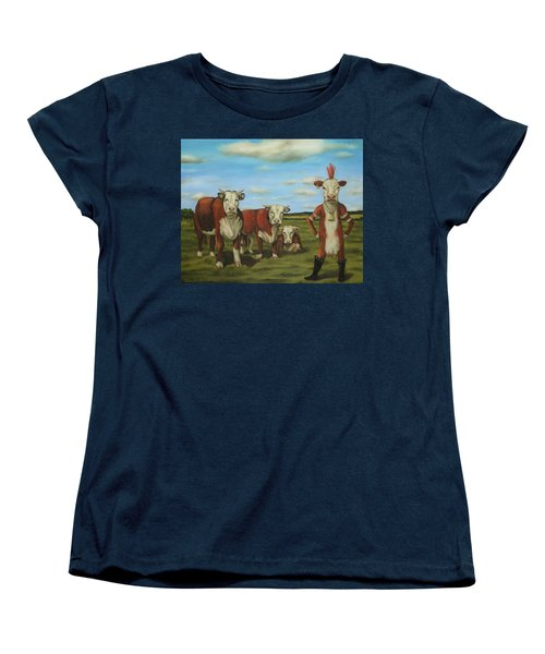 Against The Herd Women's T-Shirt (Standard Cut) by Leah Saulnier The Painting Maniac