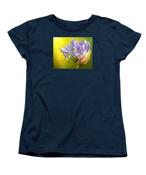 Women's T-Shirt (Standard Cut) featuring the painting Agapanthos by Natalia Tejera