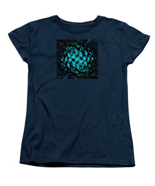 Agave Blues Abstract Women's T-Shirt (Standard Cut) by Stephanie Grant