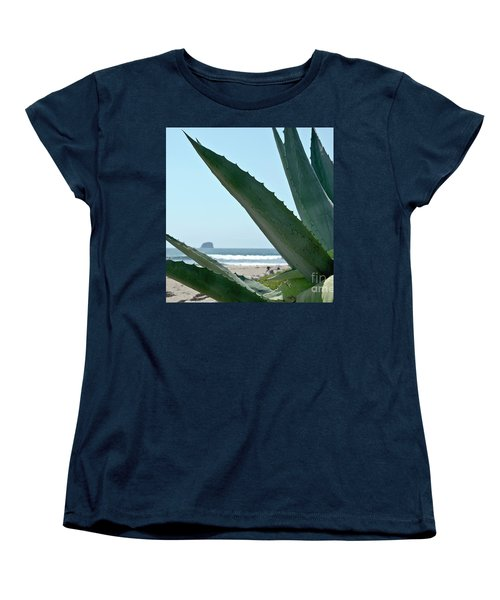 Women's T-Shirt (Standard Cut) featuring the photograph Agave Ocean Sky by Yurix Sardinelly