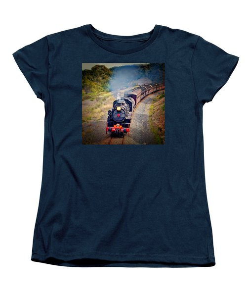 Women's T-Shirt (Standard Cut) featuring the photograph Age Of Steam by Wallaroo Images