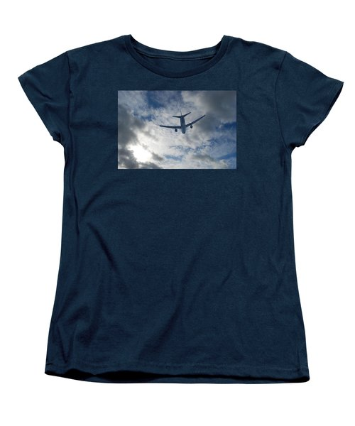 Women's T-Shirt (Standard Cut) featuring the photograph Airliner 01 by Mark Alan Perry