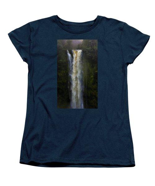 Women's T-Shirt (Standard Cut) featuring the photograph Akaka Falls by Ellen Heaverlo