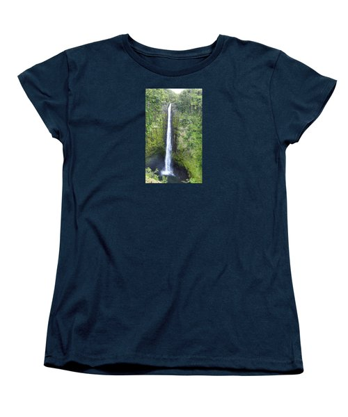 Women's T-Shirt (Standard Cut) featuring the photograph Akaka Falls by Kerri Ligatich