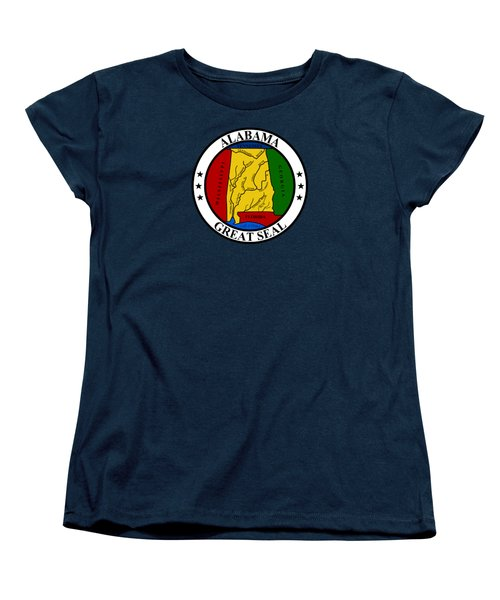 Alabama State Seal Women's T-Shirt (Standard Cut) by Movie Poster Prints