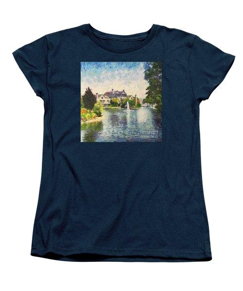 Alameda Marina Village 1 Women's T-Shirt (Standard Cut) by Linda Weinstock
