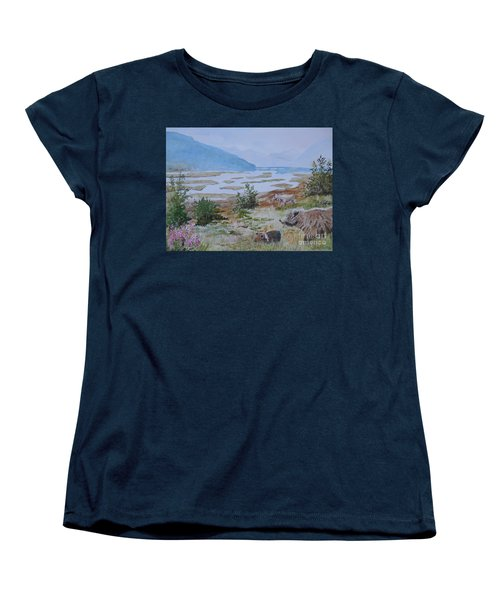 Alaska - Denali 2 Women's T-Shirt (Standard Cut) by Christine Lathrop