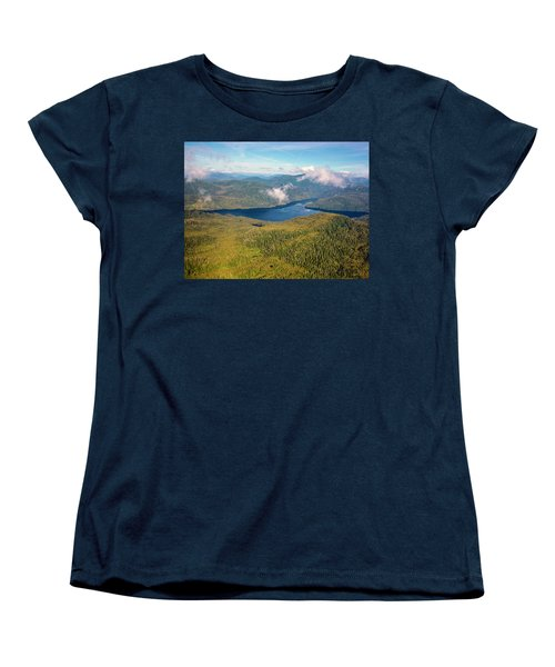 Women's T-Shirt (Standard Cut) featuring the photograph Alaska Overview by Madeline Ellis