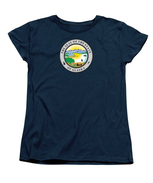 Alaska State Seal Women's T-Shirt (Standard Cut) by Movie Poster Prints