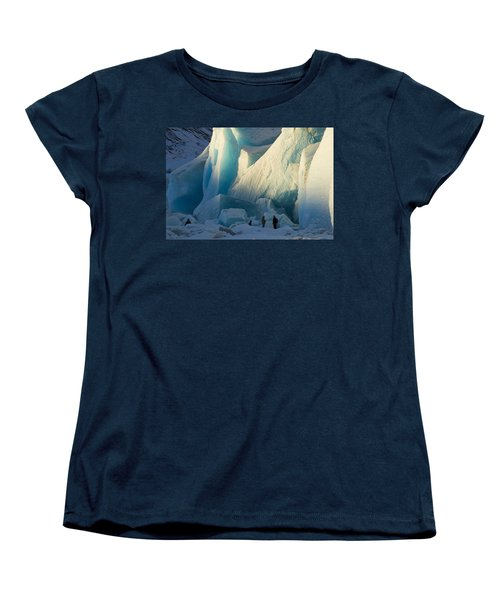 Women's T-Shirt (Standard Cut) featuring the photograph Alaskan Glacier Last Rays Of Light by Yulia Kazansky
