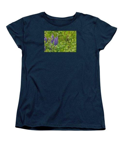 Women's T-Shirt (Standard Cut) featuring the photograph Alaskan Lupine Heaven by Diane E Berry