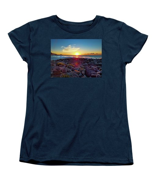 Alassio Sunset Women's T-Shirt (Standard Cut) by Karen Lewis