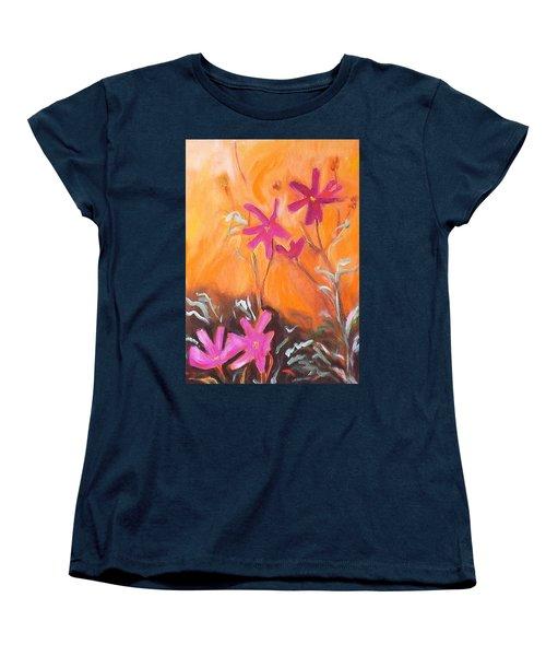 Alba Daisies Women's T-Shirt (Standard Cut) by Winsome Gunning