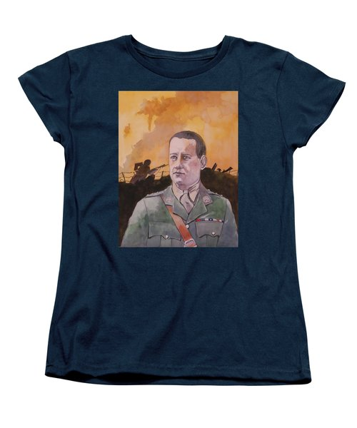Women's T-Shirt (Standard Cut) featuring the painting Albert Jaka Vc by Ray Agius