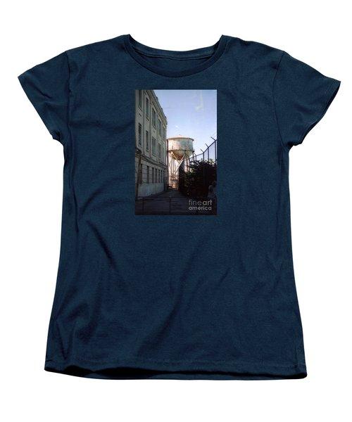 Alcatraz Water Tank  Women's T-Shirt (Standard Cut) by Ted Pollard