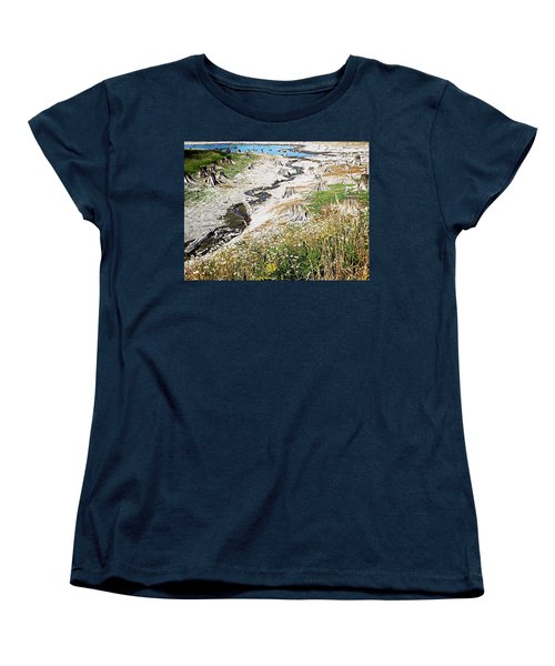 Women's T-Shirt (Standard Cut) featuring the photograph Alder Lake Stumps by Joseph Hendrix