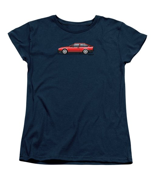Alfa Romeo Gtv6 Red Women's T-Shirt (Standard Cut) by Monkey Crisis On Mars