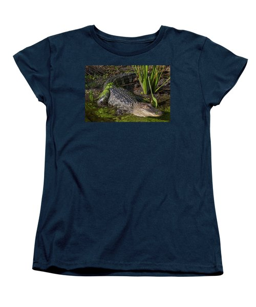 Women's T-Shirt (Standard Cut) featuring the photograph Algae Gator by Arthur Dodd