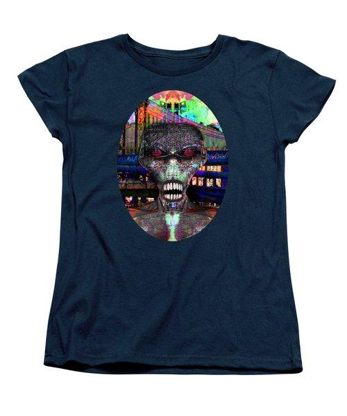 Alien Portrait Women's T-Shirt (Standard Cut) by Iowan Stone-Flowers