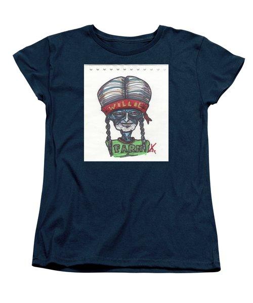 alien Willie Nelson Women's T-Shirt (Standard Cut)